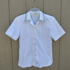 VTG Sharon Young Sportswear button down shirt